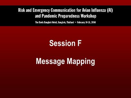 Session F Message Mapping