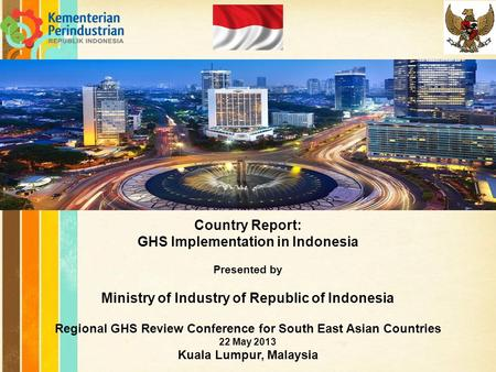 GHS Implementation in Indonesia