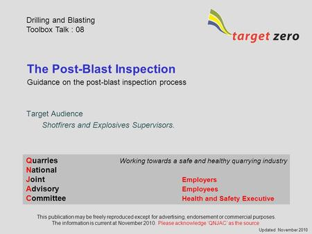 The Post-Blast Inspection
