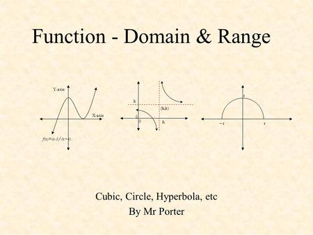 Function - Domain & Range