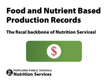 The paper copy is a legal document for meal claiming. Accurate and complete production records are necessary to support the claim for reimbursable meals.