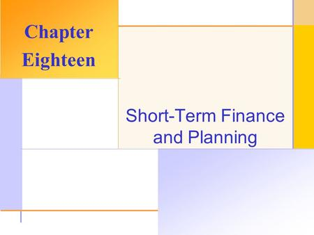 Chapter Outline Tracing Cash and Net Working Capital