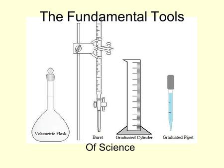 The Fundamental Tools Of Science.