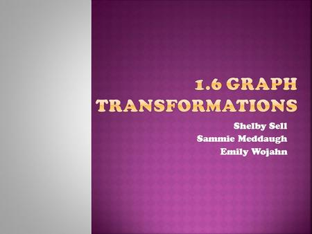 1.6 Graph Transformations