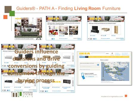 Guiders® - PATH A - Finding Living Room Furniture Guiders influence decisions and drive conversions by guiding consumers through the buying process.