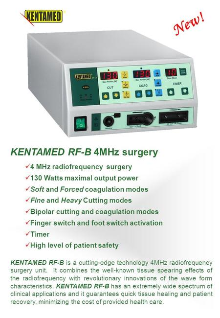 New! KENTAMED RF-B 4MHz surgery 4 MHz radiofrequency surgery