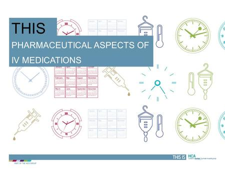 Pharmaceutical aspects of Iv medications