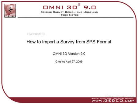 How to Import a Survey from SPS Format