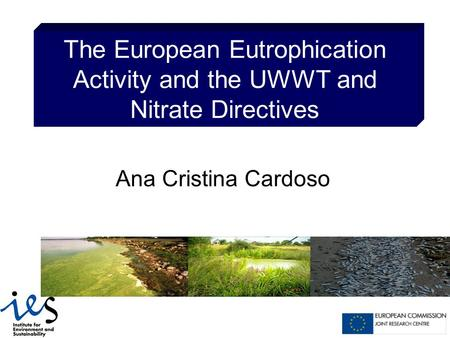 The European Eutrophication Activity and the UWWT and Nitrate Directives Ana Cristina Cardoso.
