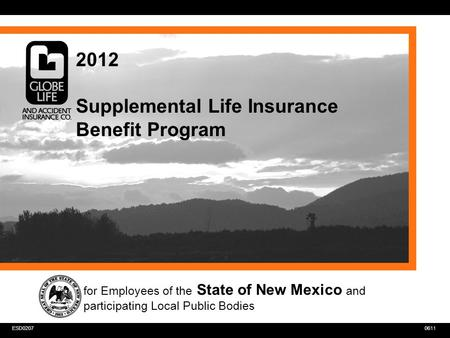 0611ESD0207 2012 Supplemental Life Insurance Benefit Program for Employees of the State of New Mexico and participating Local Public Bodies.