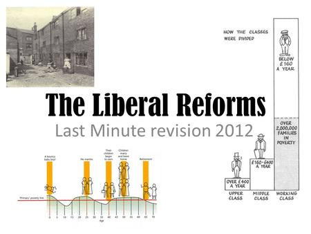 The Liberal Reforms Last Minute revision 2012. Why were people worried about poverty? Before the 1890s – poverty was seen as the fault of those who were.