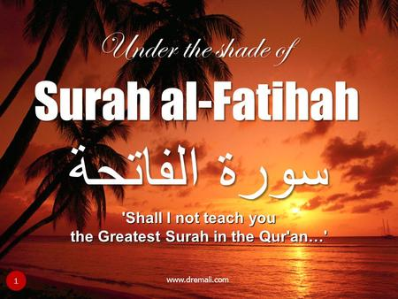 the Greatest Surah in the Qur'an…'