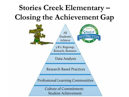 Stories Creek Elementary – Closing the Achievement Gap.