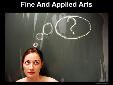 Fine And Applied Arts.