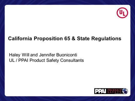 California Proposition 65 & State Regulations