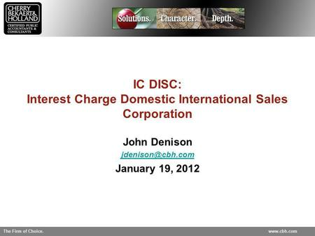 IC DISC: Interest Charge Domestic International Sales Corporation
