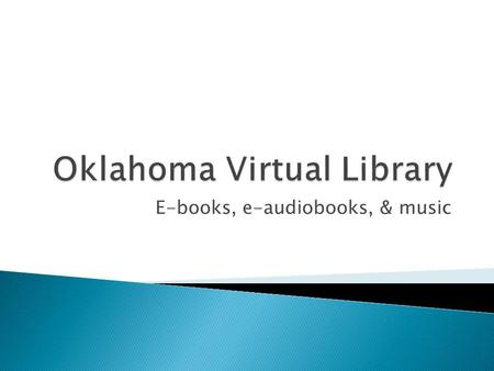 E-books, e-audiobooks, & music. On your computer, use your web browser to go to