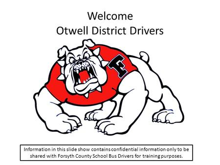 Welcome Otwell District Drivers
