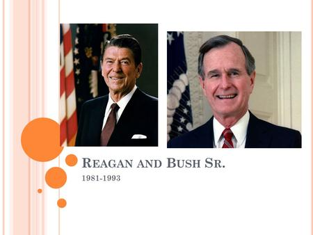 R EAGAN AND B USH S R. 1981-1993. R ONALD R EAGAN Represented the New Right Coalition: new group of conservatives with new ideas of the role of government.