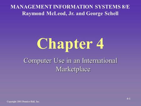 Chapter 4 Computer Use in an International Marketplace
