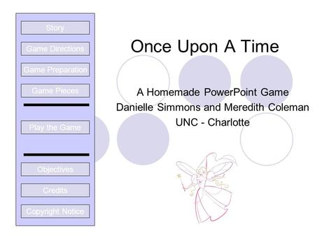 Once Upon A Time A Homemade PowerPoint Game