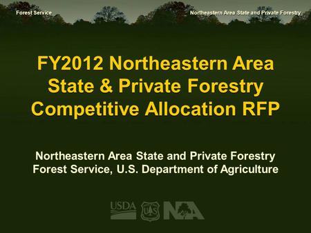 Northeastern Area State and Private Forestry