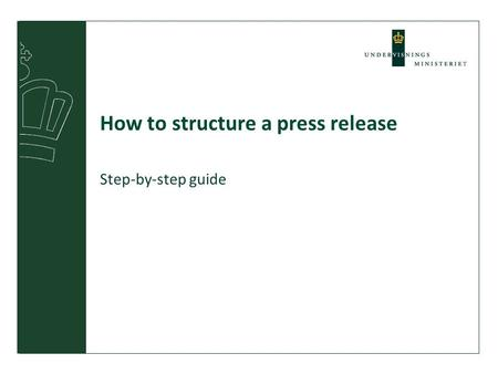 How to structure a press release Step-by-step guide.