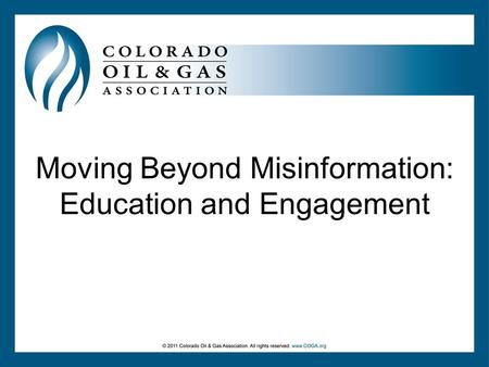 Moving Beyond Misinformation: Education and Engagement.