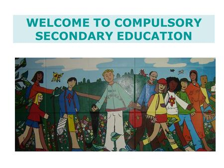 WELCOME TO COMPULSORY SECONDARY EDUCATION. INDEX Educational system outline What's ESO? (Compulsory Secondary Education) –General statements –Subjects.