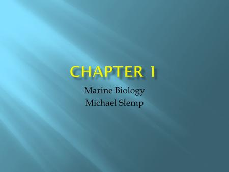 Marine Biology Michael Slemp