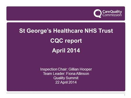 St George's Healthcare NHS Trust
