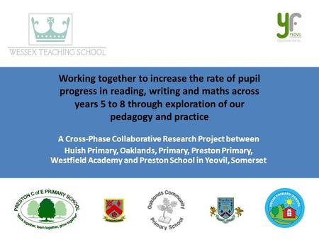 Working together to increase the rate of pupil progress in reading, writing and maths across years 5 to 8 through exploration of our pedagogy and practice.
