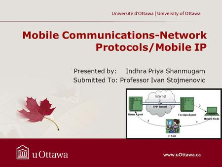 Mobile Communications-Network Protocols/Mobile IP
