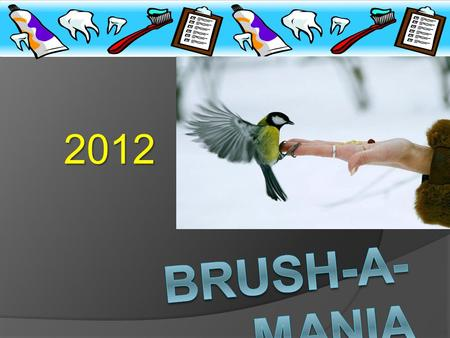 2012 WELCOME TO BRUSH-A- MANIA SILENCE PLEASE......