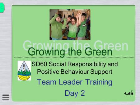 SD60 Social Responsibility and Positive Behaviour Support Team Leader Training Day 2.