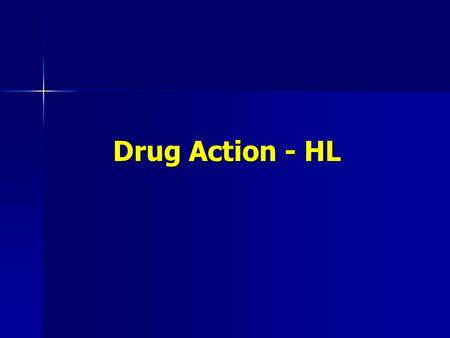 Drug Action - HL. Drug Action Stereoisomers are isomers with the same molecular formula and the same structural formula, but a different arrangement of.