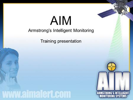 AIM Armstrong's Intelligent Monitoring Training presentation.