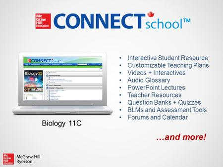Interactive Student Resource Customizable Teaching Plans Videos + Interactives Audio Glossary PowerPoint Lectures Teacher Resources Question Banks + Quizzes.