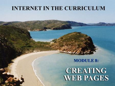 CREATING WEB PAGES INTERNET IN THE CURRICULUM MODULE 8: