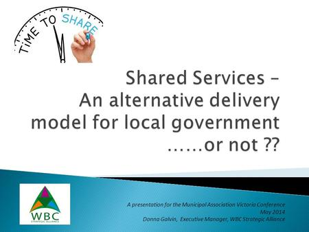 A presentation for the Municipal Association Victoria Conference