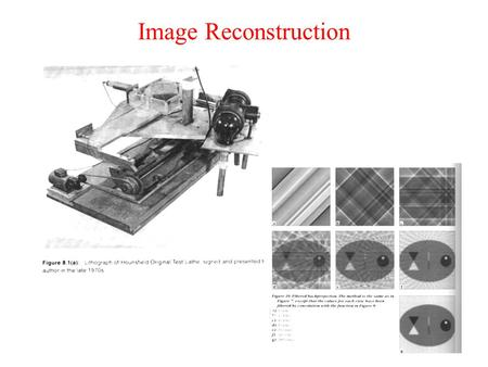 Image Reconstruction.