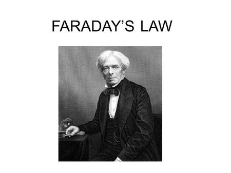 FARADAY'S LAW. Using Faraday's law, solve problems related to electrolytic cells Additional KEY Terms.