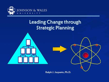1 Leading Change through Strategic Planning Ralph J. Jasparro, Ph.D.