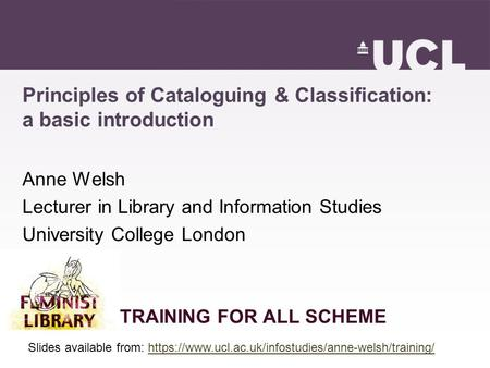 Principles of Cataloguing & Classification: a basic introduction