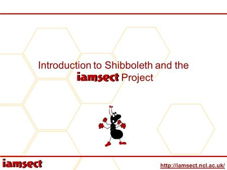 Introduction to Shibboleth and the IAMSECT Project.