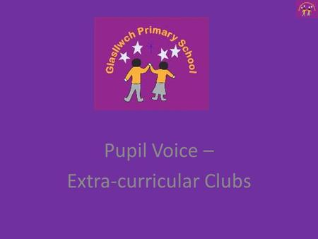 Pupil Voice – Extra-curricular Clubs. Reception Data Results How many clubs do they go to Clubs they go to Do they play for the school.