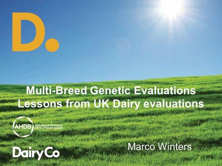 Multi-Breed Genetic Evaluations Lessons from UK Dairy evaluations Marco Winters.