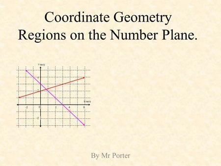 Coordinate Geometry Regions on the Number Plane.