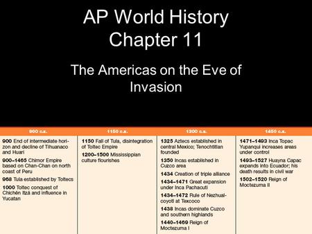 AP World History Chapter 11