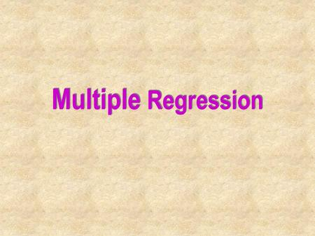 Multiple Regression. Introduction In this chapter, we extend the simple linear regression model. Any number of independent variables is now allowed. We.
